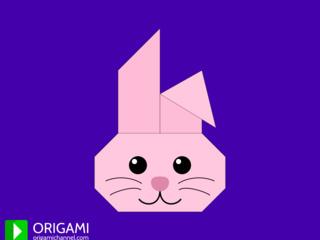 Origami Bunny Face