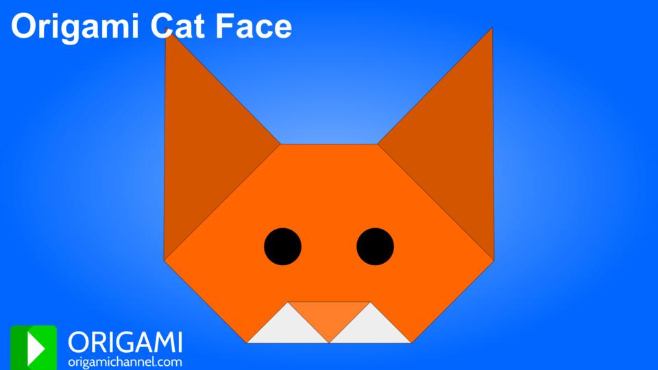 Origami Cat Face